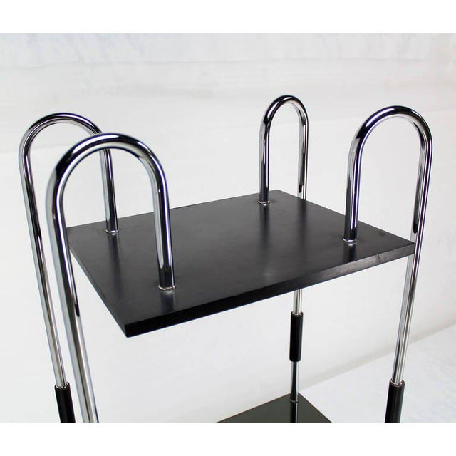 Early 20th Century Midcentury Bauhaus Style Etagere For Sale - Image 5 of 10