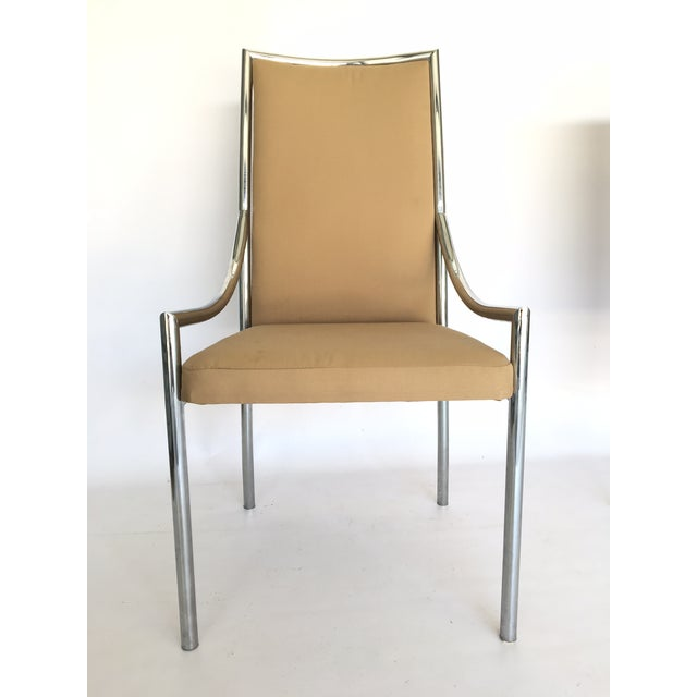 Chrome Dining Chairs After Milo Baughmann - A Pair - Image 3 of 7