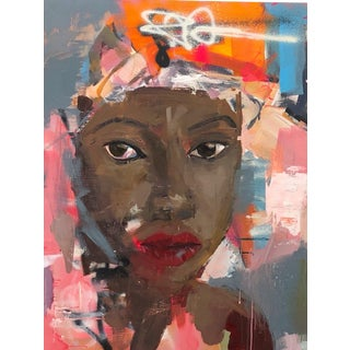 Modern Urban Portrait Graffiti Style Painting by Donna Weathers For Sale