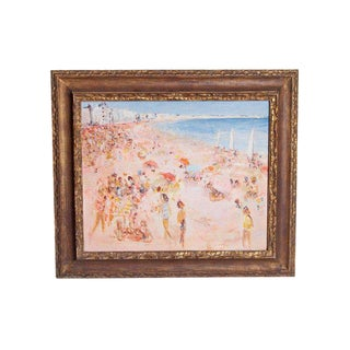 Impressionistic Oil on Canvas by Alain Rousseau, French, B. 1926 For Sale
