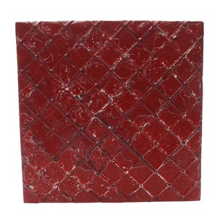 Red Decorative Tin Panel For Sale