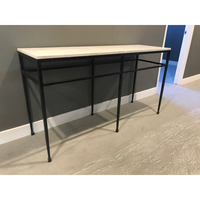 Modern Crate & Barrel Marble Console For Sale In Los Angeles - Image 6 of 6
