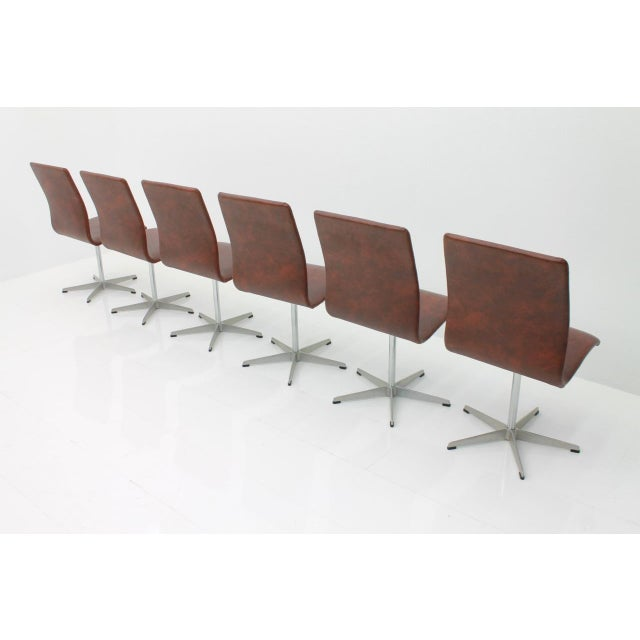 6x Arne Jacobsen Oxford Chairs by Fritz Hansen Denmark For Sale - Image 6 of 12