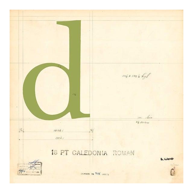 Vintage Mechanical Prints of Roman & Italic Fonts - Set of 2 For Sale