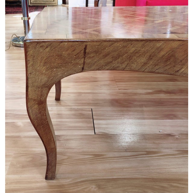 Brown Lovely Marquetry Wooden Inlay Coffee Table For Sale - Image 8 of 10