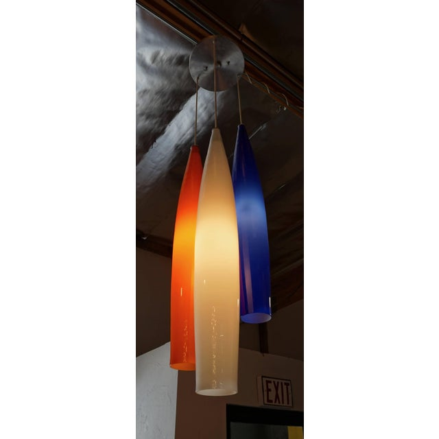 Glass Glass Pendant Lamp by Vistosi For Sale - Image 7 of 7