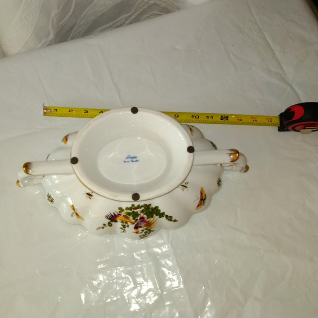 Late 20th Century 20th Century French White and Gold Centerpiece Bowl For Sale - Image 5 of 6