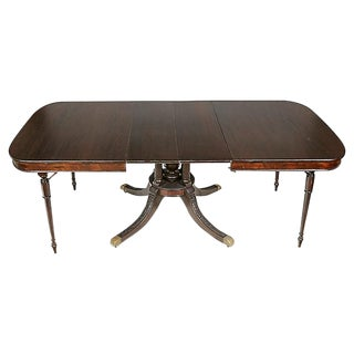 Regency Style Mahogany Dining Room Table