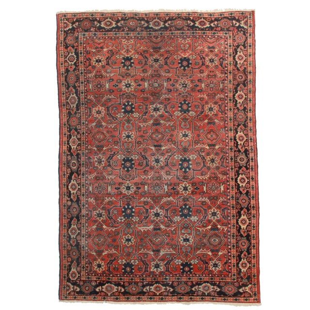 Hand Knotted Persian Mahal Rug - 6′11″ × 10′1″ For Sale