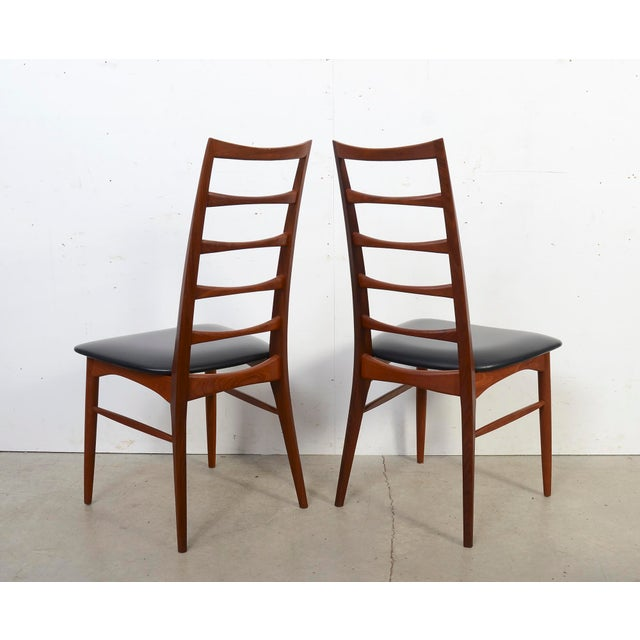 "Koefoeds Hornslet 1960s Vintage Niels Koefoed for Koefoed Hornslet Teak ""Lis"" Dining Chairs- Set of 10 For Sale - Image 4 of 8"