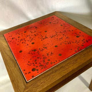 Small Orange Tile Table by Brown Saltman Preview