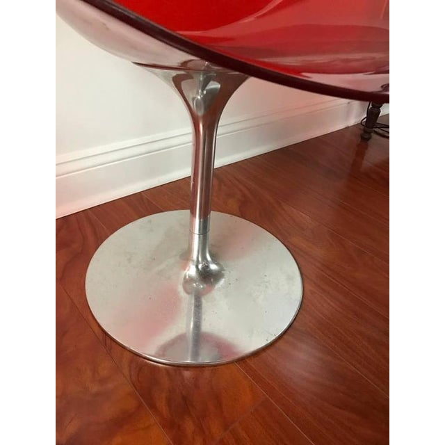 Kartell Italian Mid-Century Philippe Starck for Kartell Acrylic Eroc Chairs - Set of 6 For Sale - Image 4 of 6