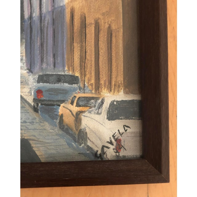 Boho Chic Italian Cityscape Painting, Signed 1984 For Sale - Image 3 of 7