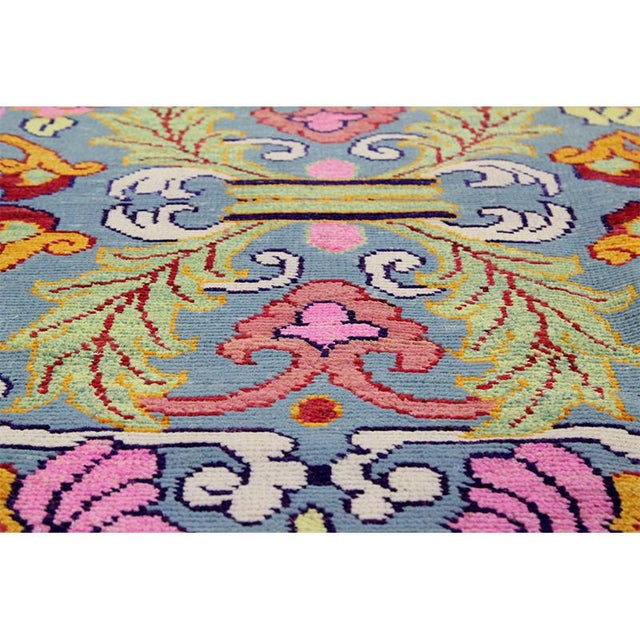 1990s Vintage Handwoven Area Rug- 6′8″ × 9′7″ For Sale In Dallas - Image 6 of 11