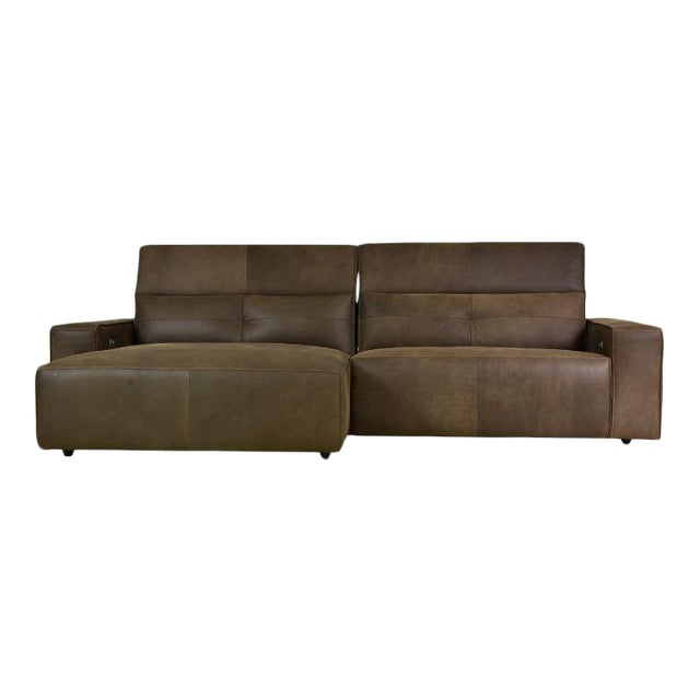 Kenneth Lugwig Davis Top Grain Leather Sectional For Sale