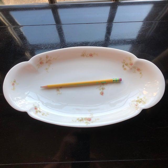 White 1920's Antique Haviland Limoges Long Serving Tray Platter For Sale - Image 8 of 9