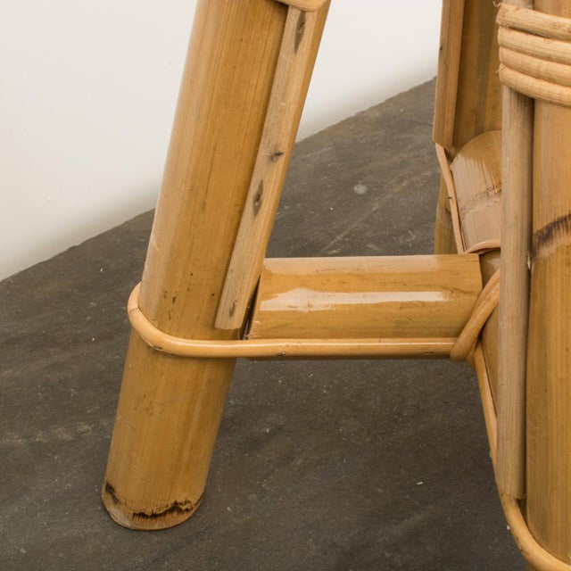 Modern Bamboo and Rattan Stool For Sale - Image 9 of 10