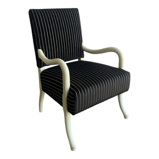 1980s White Lacquered Accent Lounge Chair For Sale
