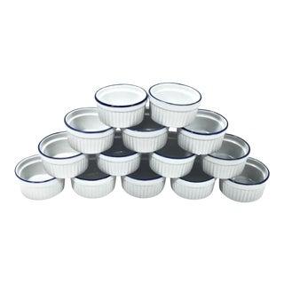 Porcelain Ramelkins, 14pcs. For Sale