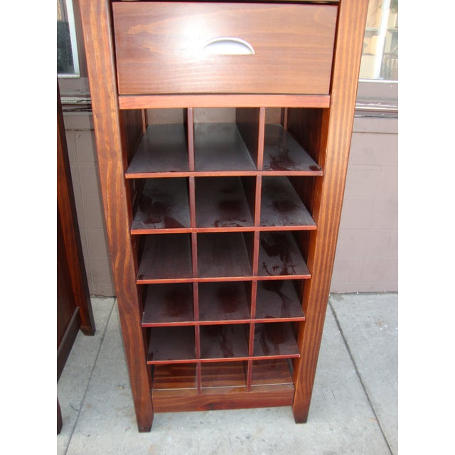 1980s Wooden Wine Cabinets - a Pair For Sale In Los Angeles - Image 6 of 11
