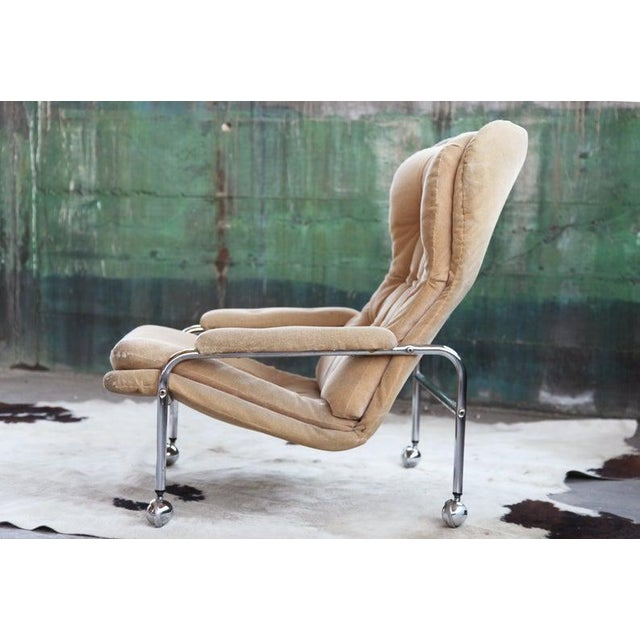 Mid-Century Modern Rare Mid Century Vintage Swedish Lounge Chair by Scapa Rydaholm, 1970s For Sale - Image 3 of 10