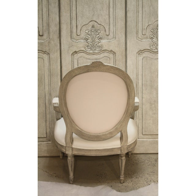 Traditional Swedish Sabylund Manor Occasional Arm Chair For Sale - Image 3 of 7