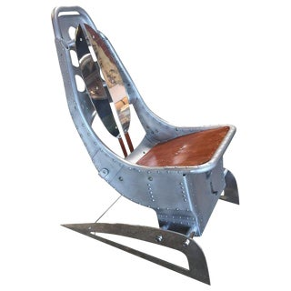 "Industrial Mid-Century Modern Aluminum Airplane ""Palermo"" Chair For Sale"