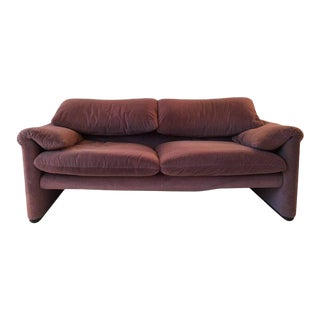 Two-Seat Sofa, Model Maralunga by Vico Magistretti for Cassina, 1970s