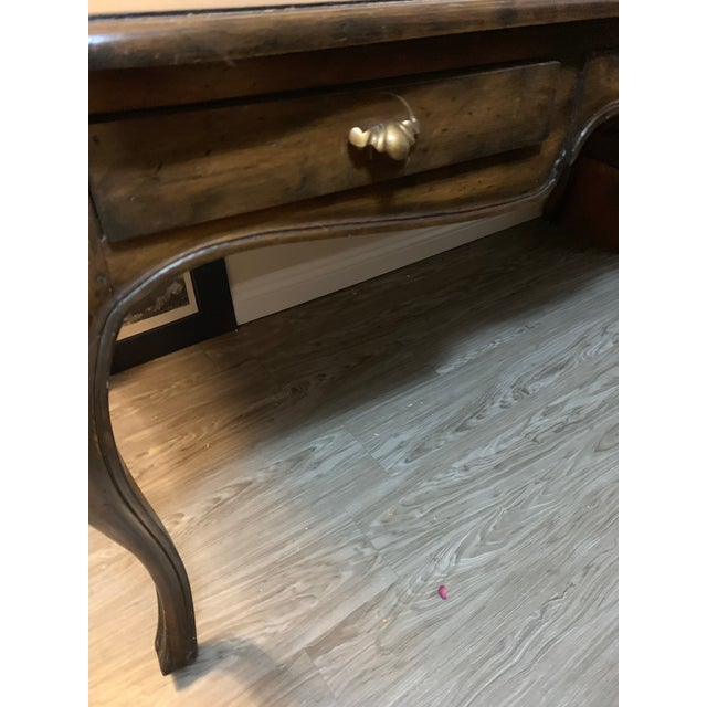 This French, Louis XV style writing table/ dining table has been owned by one family for generations. It is solid wood,...