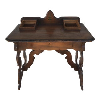 Victorian Antique Wood Writing Desk