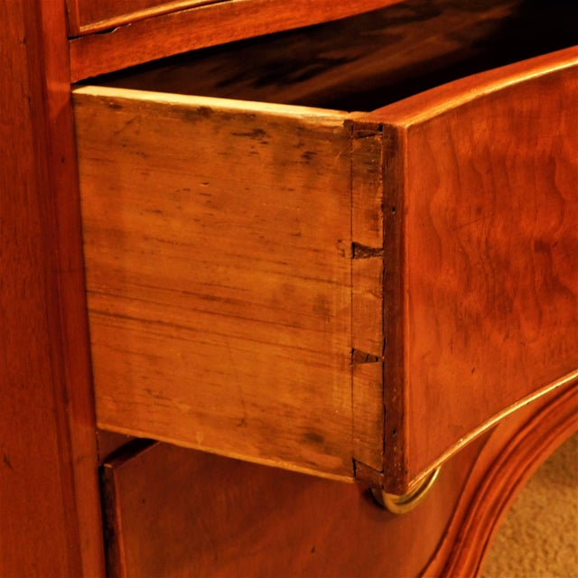Wood Pollarded Walnut Oxbow Chippendale Fall-Front Desk, Massachusetts, circa 1780 For Sale - Image 7 of 13