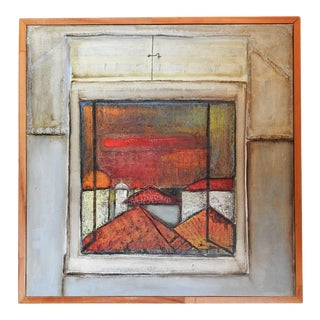 Abstract Window Landscape Painting For Sale