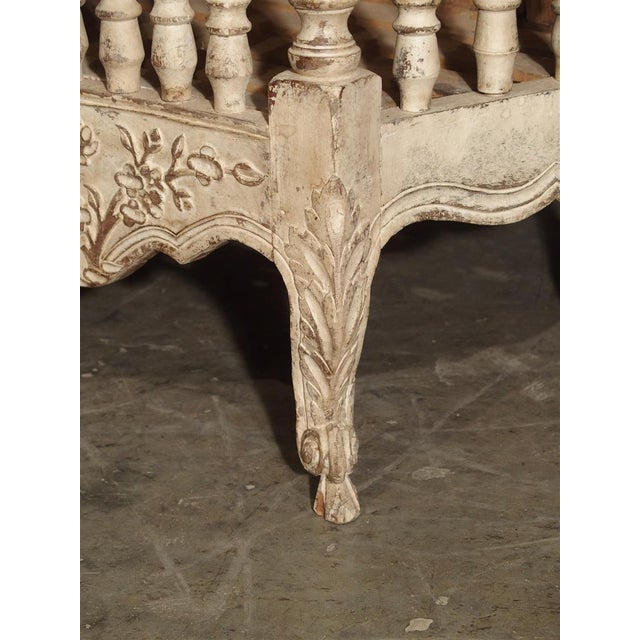 his antique French, painted panetiere is from Provence, France. Multiple motifs of various flowers, musical instruments,...