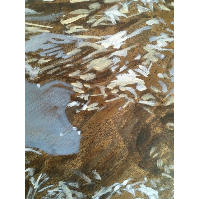 "Carol Bennett Carol Bennett ""Francis"" Figurative Underwater Oil Painting on Paper For Sale - Image 4 of 5"