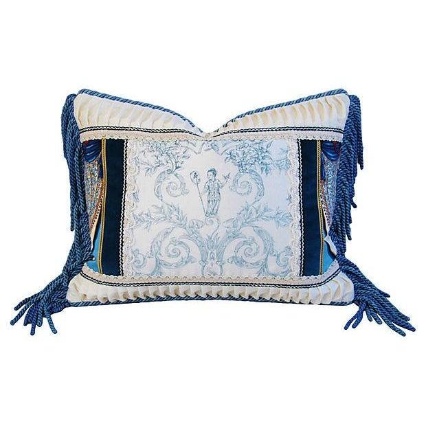 Designer Kravet Blue & White Chinoiserie Pillow - Image 1 of 6