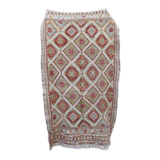 Vintage Red & Green Turkish Cicim Rug - 5″ × 10″