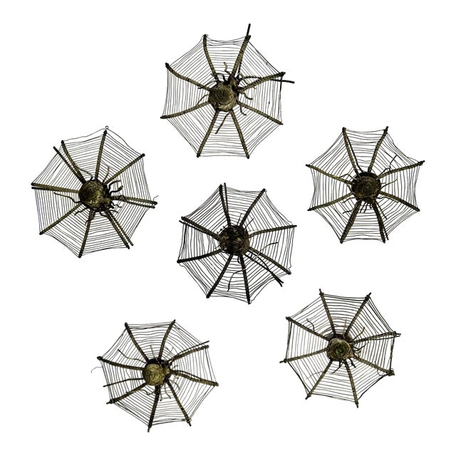 Silver Plate Spider Webs, 1920s - Set of 6 For Sale