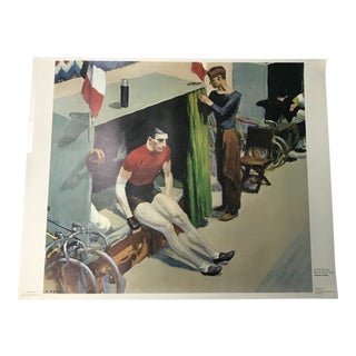 """Edward Hoppers """"French Six-Day Bicycle Rider"""" Poster 1937 For Sale"""