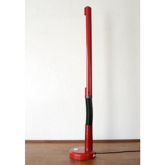 Late 20th Century Vintage Modern Red Plastic Gooseneck Fluorescent Desk Lamp For Sale In San Francisco - Image 6 of 12