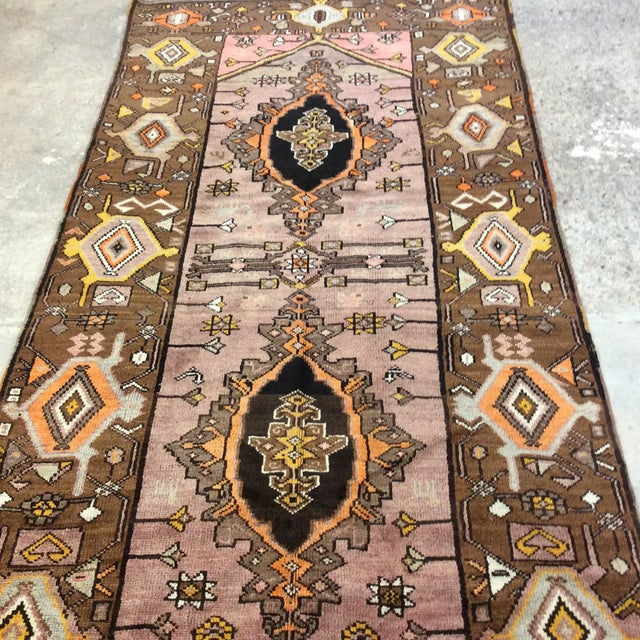 """Textile Turkish Anatolian Runner - 3'10""""x9'4"""" For Sale - Image 7 of 13"""