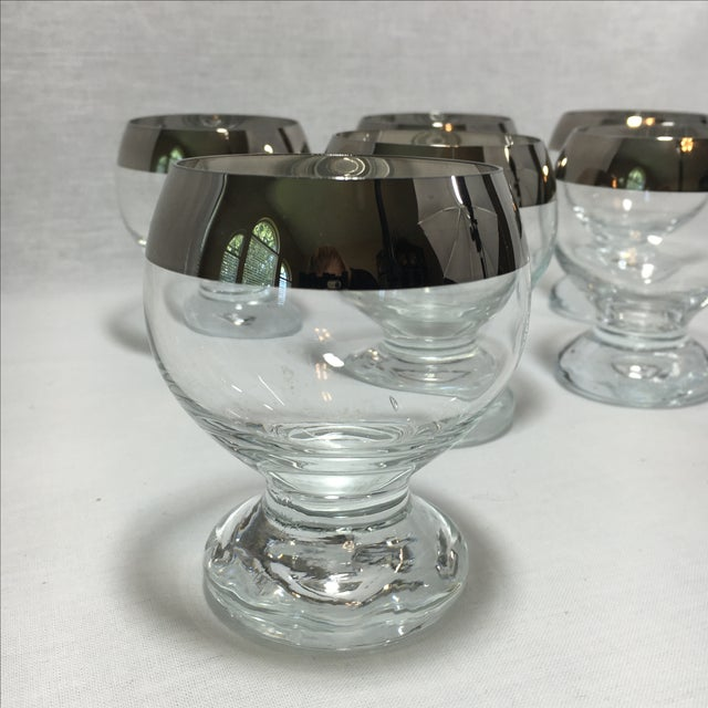 Mid-Century Modern Silver Cordial Glasses - S/6 - Image 4 of 5