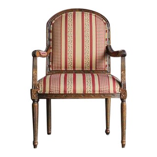Ethan Allen Carved Nicole Accent Chair For Sale