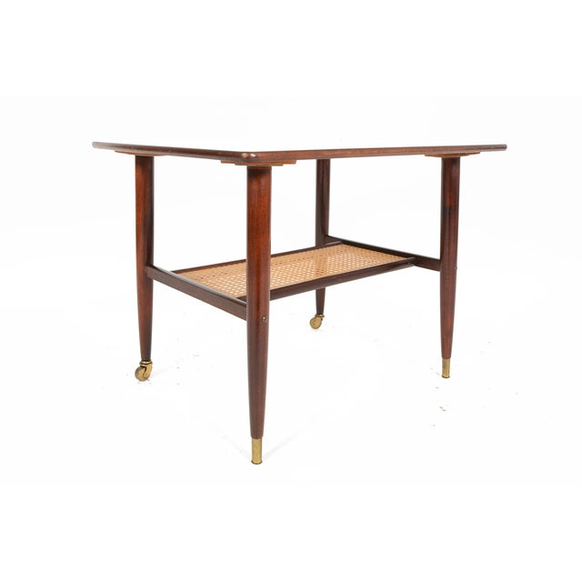 Danish Modern Rosewood Side Table With Rack - Image 6 of 7