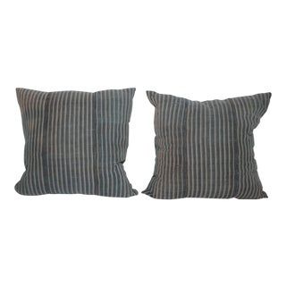 Striped Linen Pillow For Sale