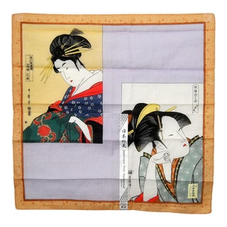 Bijinga Oiran Cotton Tenugui Japanese Fabric For Sale