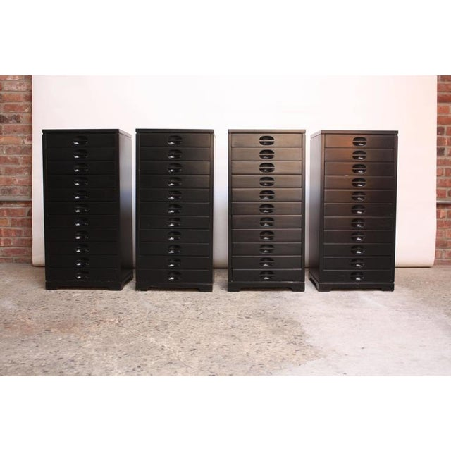 Set of Four Mid-Century American Modern Ebonized Specimen Cabinets - Image 8 of 10