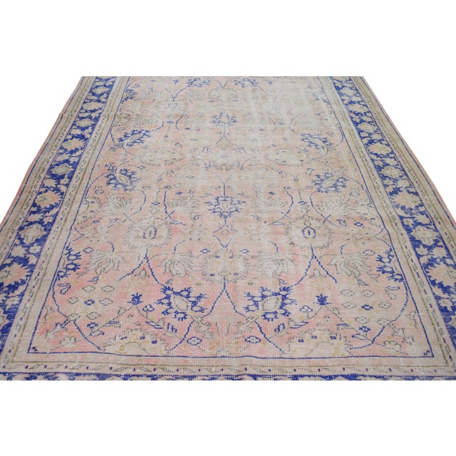 """Shabby Chic Vintage Turkish Hand Knotted Whitewash Organic Wool Fine Weave Rug,7'9""""x10'6"""" For Sale - Image 3 of 7"""