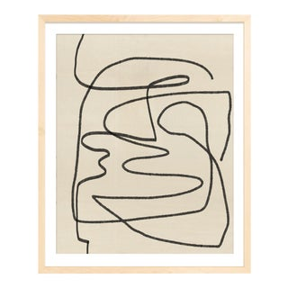 Abstract Modern Line Unframed Print For Sale
