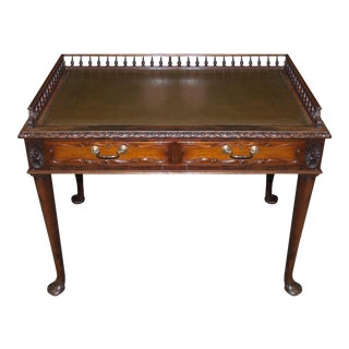 Circa 1900's English Antique Mahogany Writing Table For Sale