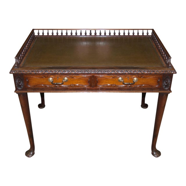 Circa 1900's English Antique Mahogany Writing Table - Circa 1900's English Antique Mahogany Writing Table Chairish
